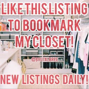 Like my closet? Like this post to Bookmark!